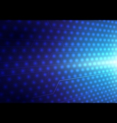 Abstract blue lights and lines background vector image vector image