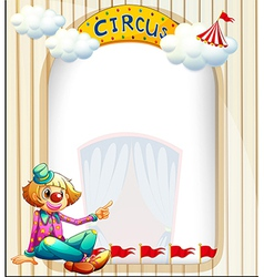 An empty template with a clown vector image vector image