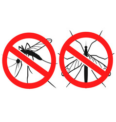 anti mosquitoes sign vector image