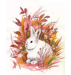 Artistic rabbit design vector
