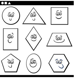 Basic geometric shapes for coloring vector