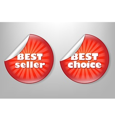 Best Choice Red Label vector image vector image