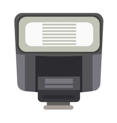 Camera flash photography equipment vector
