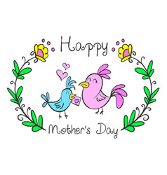 Collection mother day style design vector