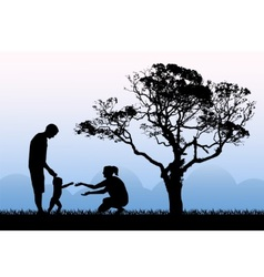 Family walk and happiness of parenthood vector image