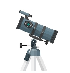 Flat reflecting telescope vector