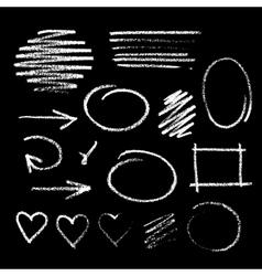 Handdrawn chalk sketch vector