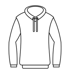 Hoody icon outline style vector