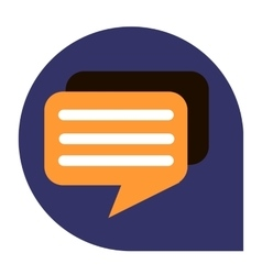 Messages or dialog icon of set tricolor vector