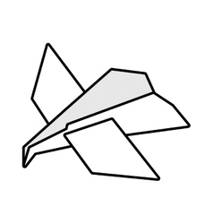 Paper plane idea innovation up outline vector