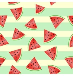 Pieces of watermelon pattern vector image