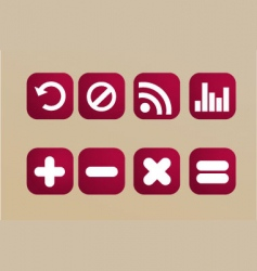 red icons vector image vector image