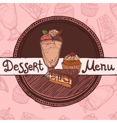 Restaurant sketch menu template vector image