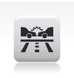 road crash icon vector image vector image