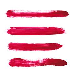 Set of magenta watercolor stripe textures vector