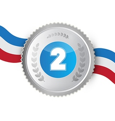 Silver medal award isolated on white background vector