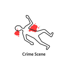 Simple crime scene icon isolated on white vector