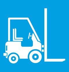 Stacker loader icon white vector