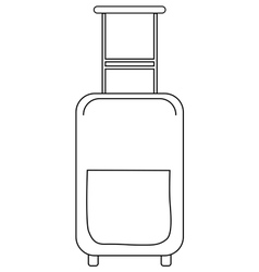suitcase vector image vector image