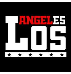 T shirt typography Los Angeles CA black vector image vector image