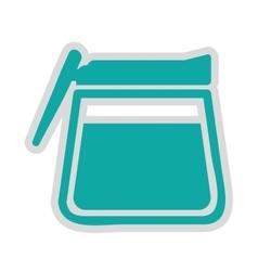 Tea pot isolated icon design vector