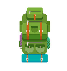 the backpack of a tourist vector image vector image