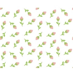 Tiny roses seamless background vector