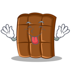 Tongue out chocolate character cartoon style vector