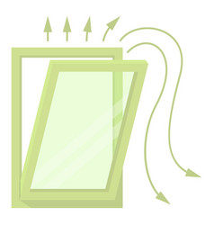 Window ventilation icon cartoon style vector