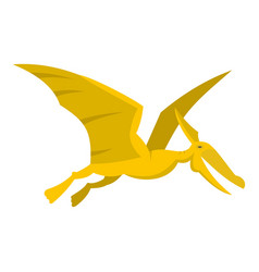 Yellow pterosaurs dinosaur icon isolated vector