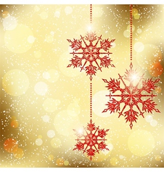 Sparkling christmas snowflakes vector