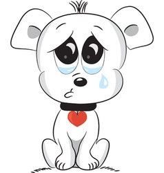 Sad dog vector image