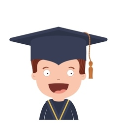 Half body avatar boy with graduation outfit vector
