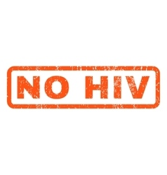 No hiv rubber stamp vector