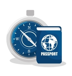 Compass travel device isolated icon vector