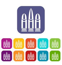 Cartridges icons set vector