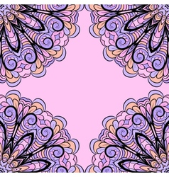 Abstract pink-lilac pattern vector