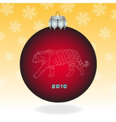 Red fur-tree ball vector