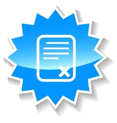 Bad document blue icon vector