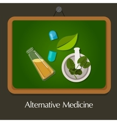 Natural alternative medicine traditional vector