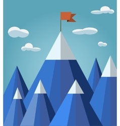 Success or leadership concept with mountain vector