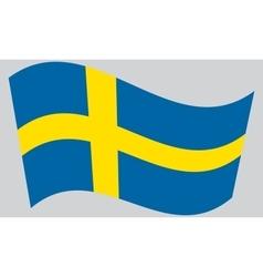 Flag of sweden waving vector