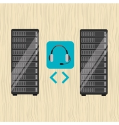 Data storage design vector