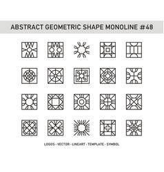 Abstract geometric shape monoline 48 vector