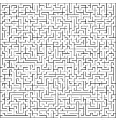 Abstract maze of high complexity vector image vector image