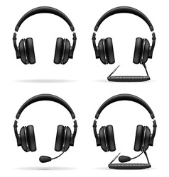 Acoustic headphones 05 vector