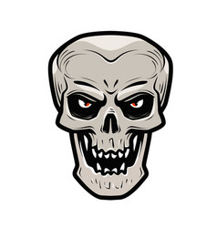 angry skull monster dead zombie halloween vector image vector image