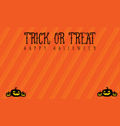 Background trick or treat halloween vector