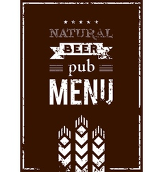 beer menu for the pub vector image