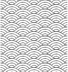 Black and white waves seamless pattern vector image